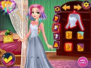 Rapunzel Design Rainbow Dress